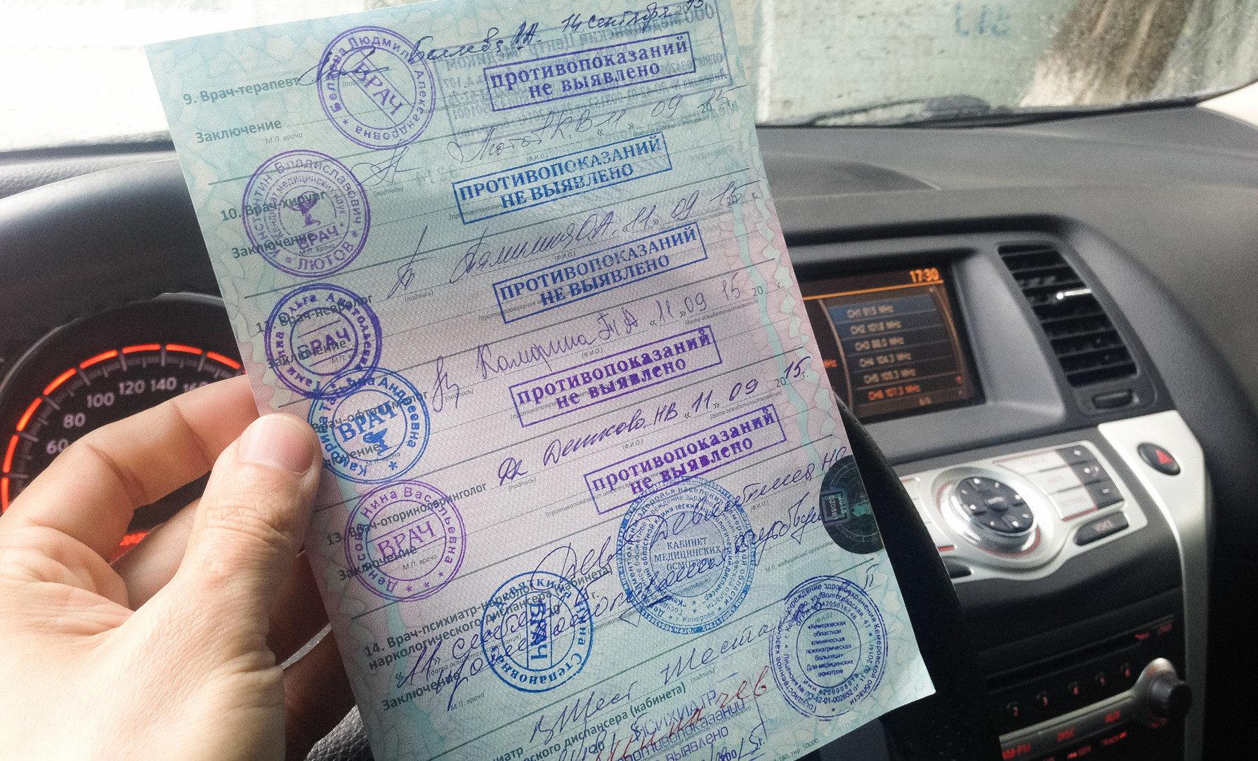 Новые правила проведения водительской медкомиссии в России